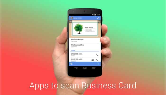 top 11 android business card scanner apps 2016 best free business
