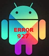 Android error 927