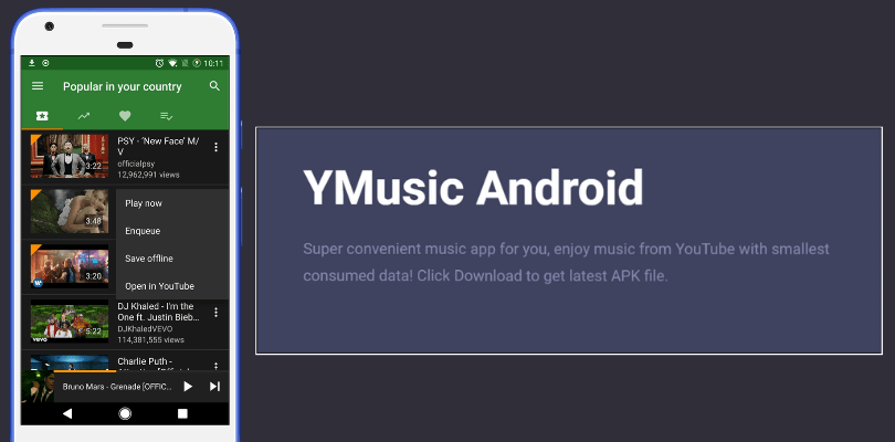 Download YMusic Apk Latest Version (YouTube Music Player & Downloader) 2019 1