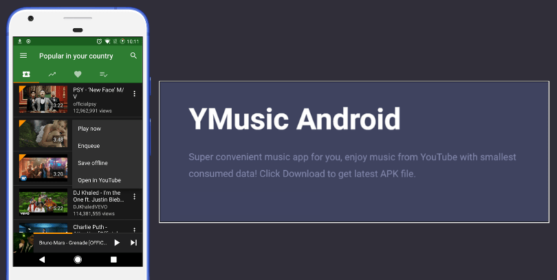 Download YMusic Apk Latest Version (YouTube Music Player & Downloader) 2019 2