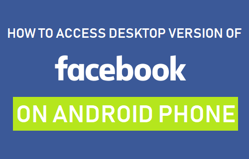 access facebook desktop on android