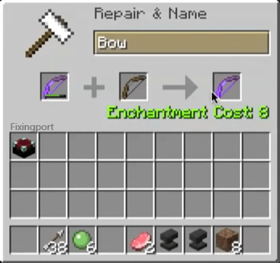 merge the ordinary bow with your enchanted bow